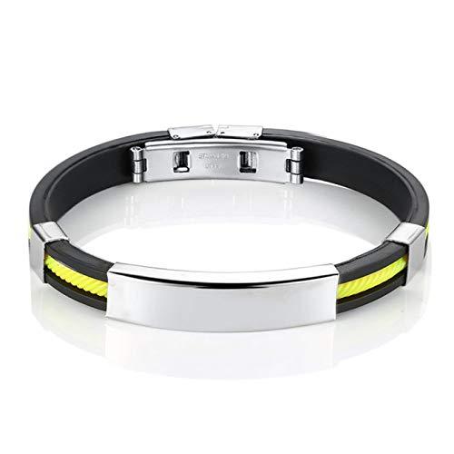 SENFEISM Fashionpunk pulseras de nombre personalizadas para hombres pulsera de acero inoxidable grabado para joyería