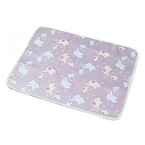 WangQianNan Plegable Almohadillas de pañales de bebé Reutilizables Impermeables y Transpirables pañales pañales Dibujos Animados Impresos pañales pañales Esenciales de Viaje (Color : Blue Elephant)