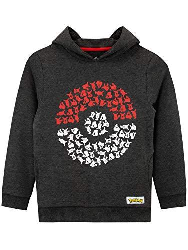 Pokémon - Sweat-Shirts à Capuche - Pokeball - Garçon - Multicolore - 11-12 Ans