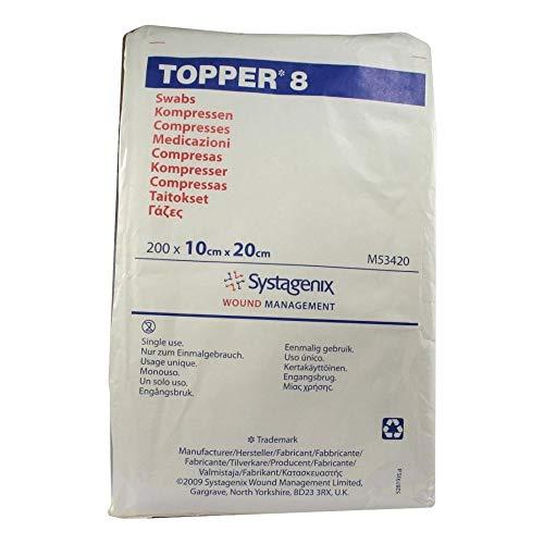 TOPPER 8 Kompr.10x20 cm unsteril 200 St