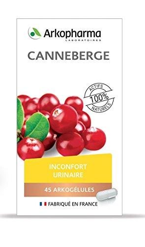 Arkopharma - Phytothérapie Canneberge - Inconfort urinaire - Flacon de 45 Gélules