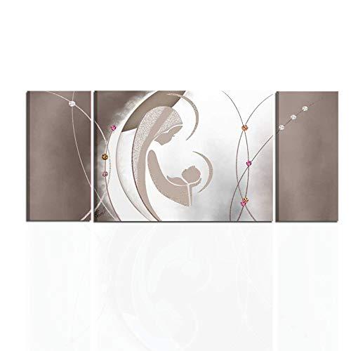 I Colori del Caribe Quadri Moderni Astratti SACRI CAPEZZALI per Camera da Letto Olio su Tela Dipinti A Mano Marrone Alta QUALITA' Made in Italy GENESI