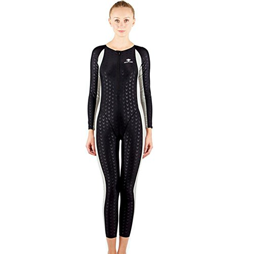 Axjzh Frauen Taucheranzug Schwimmen Kostüme Wettbewerb Badeanzug Surfing Neoprenanzug, Black, 3XL