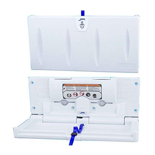 Jofel AY10000 Cambiador de Pañales Horizontal, HDPE Antibacteriano, Blanco