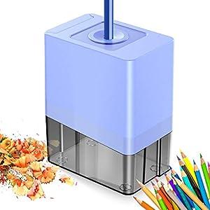 Cocoda Sacapuntas Electrico, Automático Pencil Sharpener con Hoja Helicoidal de Alta Resistencia, Diseño de Seguridad…