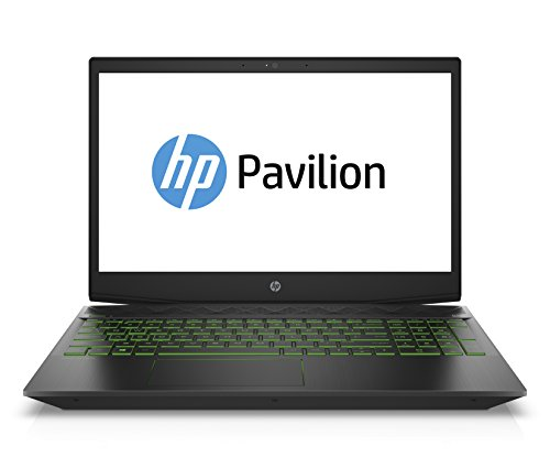 HP Pavilion Gaming 15-cx0002ng (15,6 Zoll/ Full HD IPS) Gaming Laptop (Intel Core i5-8300H, 128 GB SSD + 1 TB HDD, 8 GB RAM, Nvidia GeForce GTX 1050Ti 4GB, Windows 10 Home 64) schwarz / grün