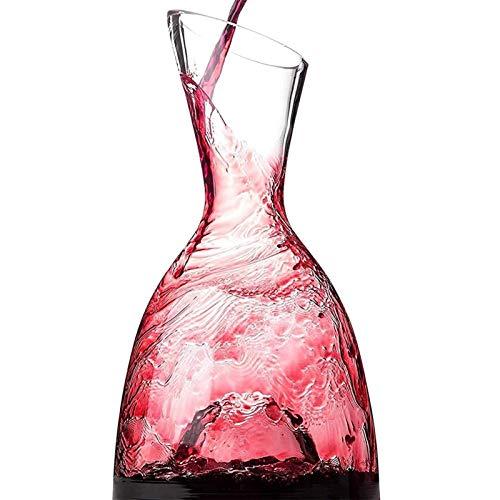 Decantador de vino de cristal hecho a mano, CARAFE VINO Decantador: 100% libre de plomo, lujosa botella de cristal de aire americano, adecuado para amantes del vino, elegante vino y accesorios para be