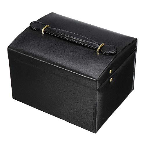 Preisvergleich Produktbild ReedG Schmuckpräsentationsset Box für Frauen Multifunktionale Haushalt Schmuck-Box Double Layer große Kapazitäts-Schmuck-Uhr-Kasten Schlafzimmer-Dekoration Schmuck Organisator-Aufbewahrungsbehälter