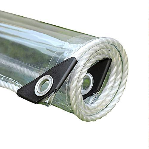 IJNBHU Lona Impermeable Exterior con Ojales, Lona Transparente, Los 0.3MM PVC Tarea Pesada Claro Resistente Al Agua A Prueba De Polvo Anti-envejecimiento Lona, Cámping Jardinería Pescar
