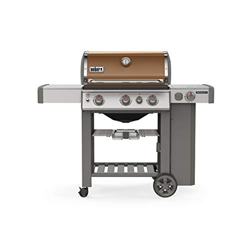 Weber 61022001 Genesis II E-330 3-Burner Liquid Propane Grill, Copper - Assembly Free Gas Grill Grills Natural UDS