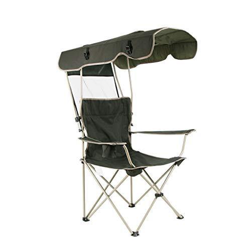 Silla de camping al aire libre Silla plegable al aire libre de la sombrilla de la silla del ocio de la silla de la pesca de la silla ajustable del paño de Oxford 88 * 91 * 123cm Silla plegable portáti