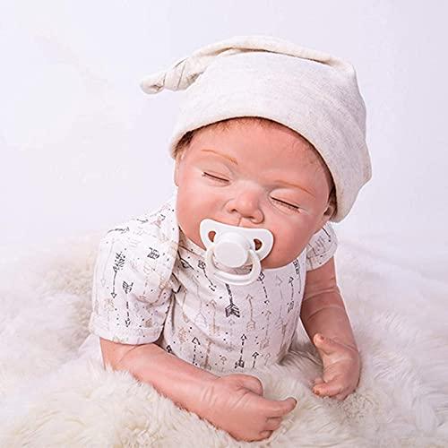 LXTIN Muñeca Reborn de 58Cm, 23 Pulgadas, muñeca recién Nacida para Dormir, Silicona Suave, muñecas nutritivas, muñecas Ligeras para niños pequeños, Juguetes para niños