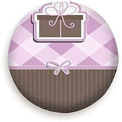 WCHAO Cover per Pneumatici Ruota di scorta Regalo di Natale Simpatico Regalo a Quadri Plaid Impermeabile Duniversale a Prova di ust per Molti Veicoli