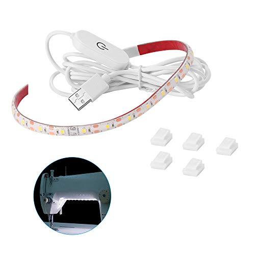 Houkiper Máquina de Coser Luz LED Houkiper Máquina de Coser LED Flexible Luz de Trabajo Con Atenuador Táctil y Fuente de Alimentación USB, Se Adapta a Todas las Máquinas de Coser