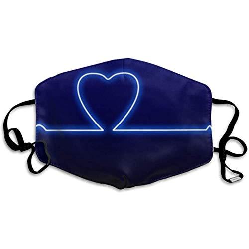 Liebe Herzschlag Herzschlag Monitor Valentine Neon Mundschutz Schutz Designer Mundschutz Mundschutz