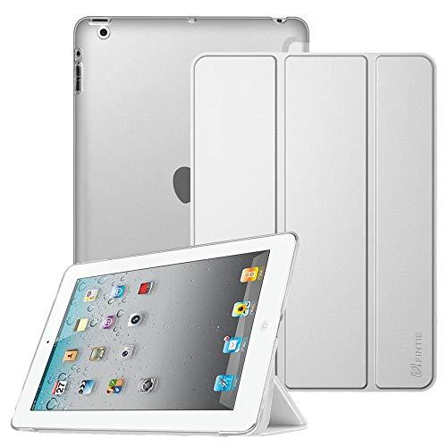 Fintie Hülle für iPad 4, iPad 3 & iPad 2 - Superdünne Superleicht Schutzhülle mit durchsichtiger Rückseite Abdeckung Cover mit Auto Schlaf/Wach Funktion, Silber