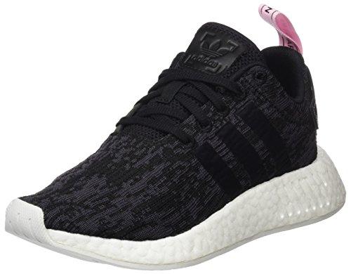 adidas NMD_R2 W, Zapatillas de Deporte para Mujer, (Core Black/Core Black/Wonder Pink F10), 36 2/3 EU