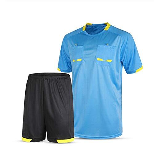 XIAOL Camisetas De Fútbol 2019 Hombres árbitro Uniforme Fútbol Corto Chándal De Fútbol Profesional Tailandia árbitro Juez Uniforme,Blue-XXXL