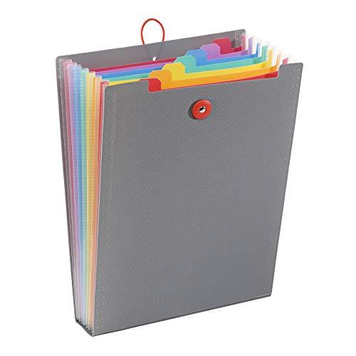Viquel Rainbow Touch Akkordeon-Ordner, 8 Positionen, für Rucksack, A4, Grau