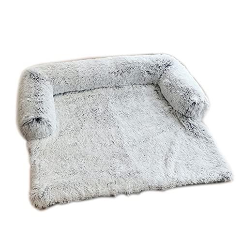 Cama grande de felpa para perrera, cama para gato/perro, lavable, mullido, suave, cojín rectangular cálido para dormir para el invierno, camas de perro para perros pequeños, medianos y grandes