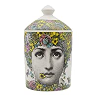 Piero Fornasetti Jar Diy Empty Candle Holder Beauty Dressing Brush Pen Box with Lid Ceramic Storage Tin Flower and Face Bottle (e)