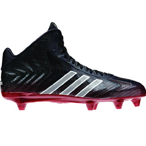 adidas Crazyquick Mid D Fußballschuhe für Herren, (Schwarz-Weiß-Rot), 47.5 EU