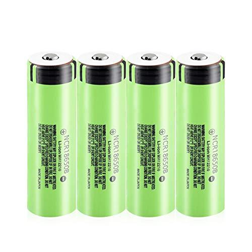 HTRN Batería De Litio De 3.7v 3400mah 18650b, Top Cargable del Botón 20a para La Batería De Litio De La Linterna 4Pcs