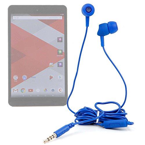 DURAGADGET Auriculares in Ear con Mando de Manos Libres para Tablet Haier Cdiscount Cdisplay, Notebook W1165P, Notebook W1225P, Pad 782, Pad 971, Pad S1001, Pad W203, Pad W800