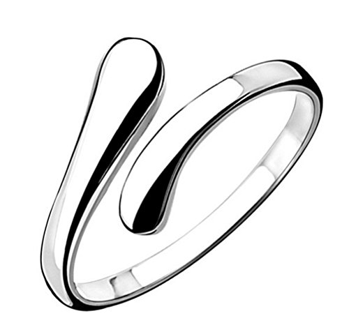 Women's 925 Sterling Silver Simple Open Adjustable Rings