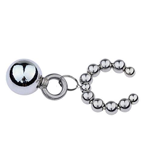WWJ Ball-Penisring für Herren, Gewicht Aufhänger, dauerhafter Ring, Metall, glatt und bequem, für Anfänger, Spielzeug, T-Shirt, Sonnenbrille (Größe : 32 mm)
