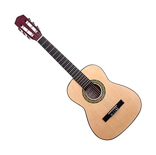 Classic Cantabile AS-851-L Klassikgitarre 1/2 für Linkshänder (Konzertgitarre für Kinder/Anfänger, Acoustic Series) natur
