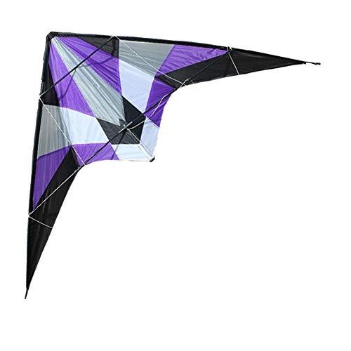 TX GIRL 1.8 M Sturm Delta Dual Line Lenkdrachen/Power-Kites Gute Fliegen Mit Handgriff Und Linie Outdoor Fun Sport (Color : Purple)