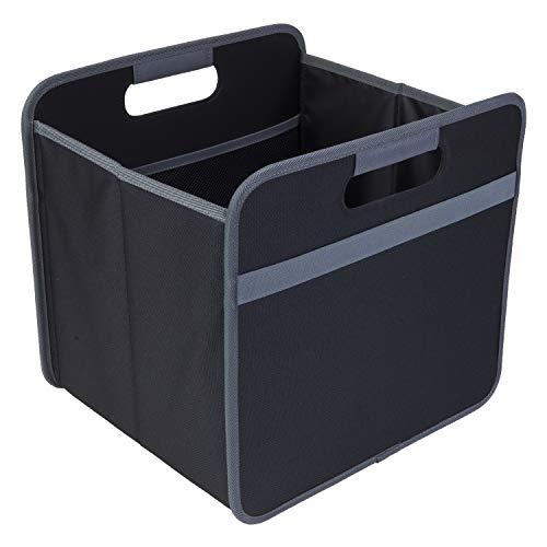 Faltbox Multi Lava Schwarz 32x30x27,5cm abwischbar stabil Polyester platzsparend Homeoffice Geschäftsreise Büro Ablage mit Griffen Archiv Arbeitsmaterial Unterlagen