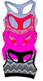Just Love Girls Bras / Seamless Crop Sports Bra for Girls 4 Pack With Heart Print Small / 32A