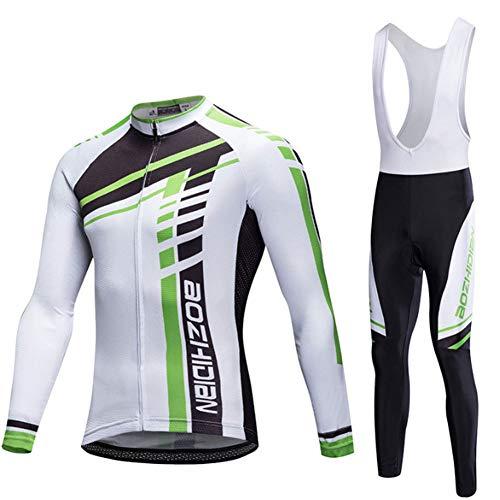 Yu$iOne Fahrradbekleidung Anzug, BelüFtung Hygroskopisch Langarm Mantel Fahrradbekleidung FüR MäNner Und Frauen Sportbekleidung,L