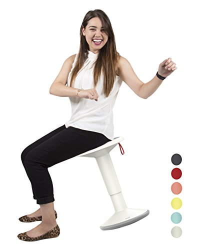 Stand Steady Active Motion Stool | Wobble While You Work! | Premium Ergonomic Stool/Ergonomic Office Chair for Comfort & Back Pain Relief - Made in Germany (White)