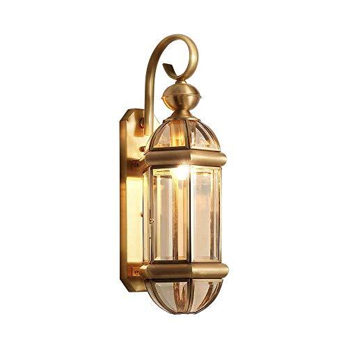 Hoge helderheid goud metaal wandlamp wandlamp alle messing E27 wandlamp met glazen lampenkap woonkamer slaapkamer Home Commercial Decor wandlampen, D-B