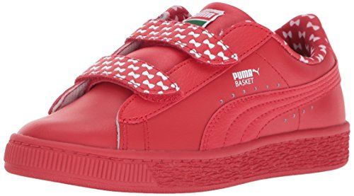PUMA Baby Sesame STR Basket Elmo Mono V Kids, High Risk Red-High Risk Red, 10 M US Toddler