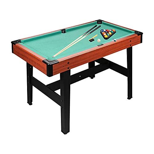Tavolo da biliardo da 4 ft + accessori per bambini e adulti, 122 x 67 x 78 cm (L x P x A)