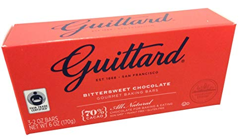 Guittard, 70% Bittersweet Cocoa Baking Bars, Semi Sweet, 6oz Package (Pack of 4)