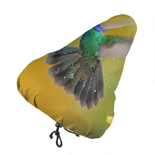 Funda de Asiento de Bicicleta Colibrí Verde Violetear Colibri Thalassinus Protección de Aves Resistente al Sol y la Lluvia Cojín de Bicicleta para Mujeres Hombres Todos