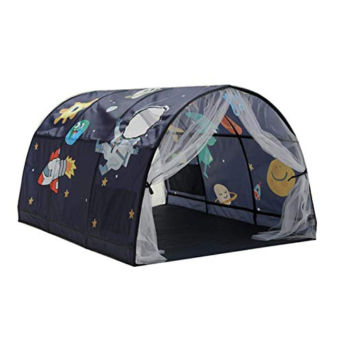 Tienda de campaña de ensueño tienda de cama niñas niños túnel para literas tienda de campaña cama de juego tienda de campaña de ensueño tienda de decoración de dormitorio para niños para c (presente)