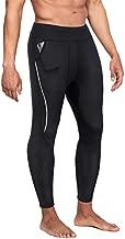 Wonderience Men Neoprene Slimming Pants for Weight Loss Hot Thermo Sauna Sweat Capri Fitness Workout Body Shaper (Black#4 Pants, M)
