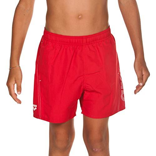arena Jungen Badeshorts Fundamentals Logo Boxer Junior (Schnelltrocknend, Mesh- Innenslip, Seitliche Taschen), Red-White (401), 164