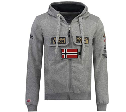Geographical Norway Sudadera Hombre GYMCLASS Full Zip 100 rol Gris Melange S