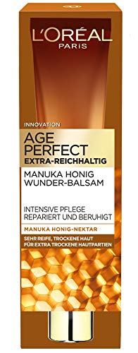 L'Oréal Paris Age Perfect Extra-Reichhaltiger Balsam, Anti-Age Intensivpflege mit Manuka Honig für trockene & reife Haut, repariert und beruhigt die Haut, 40ml