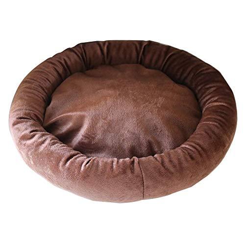 iBelly Cama para Perros Perros sofá hundematte Perros Cojín para Perros Gato Cama Redonda Ultra Suave Lavado Bar Otoño y Invierno Mascotas Cama para Gatos y Perros, Color marrón