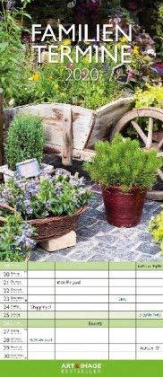 Gärten - Familientermine - Kalender 2020 - teNeues-Verlag - Art & Image - Familienkalender - Monatsplaner mit 5 Spalten und Platz für Eintragungen - 19,5 cm x 45 cm