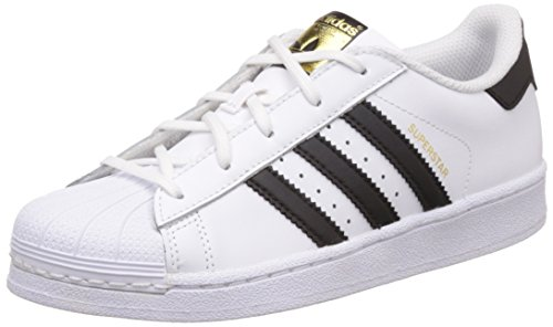 adidas Superstar, Zapatillas Unisex Niños, Blanco (Footwear White/Core Black/Footwear White 0), 31.5 EU