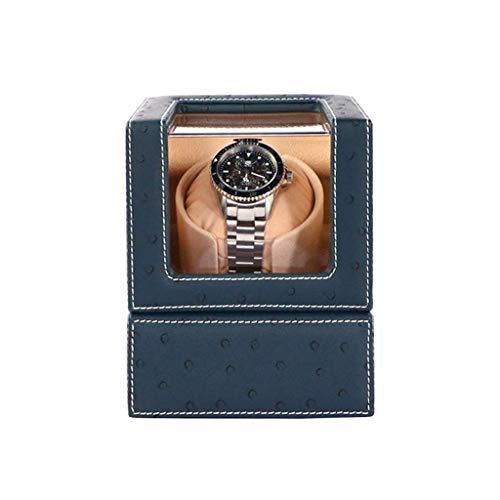 WXDP Automatischer Uhrenbeweger,Automatische Single Watch Winder Box, leiser Motor und 4 Rotationsmodi, batteriebetrieben, Uhren-Aufbewahrungsbox